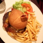 Hamburger from Hard Rock Cafe Budapest