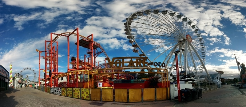 A beautiful panorama picture from Prater